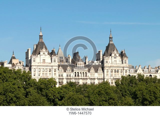 The Royal Horseguards Hotel seen viewed from south of the Thames,London,England