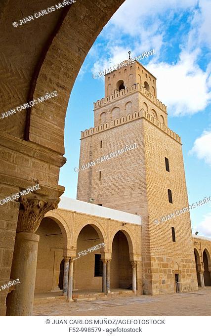 The Great Mosque. Kairouan.Tunez. Africa