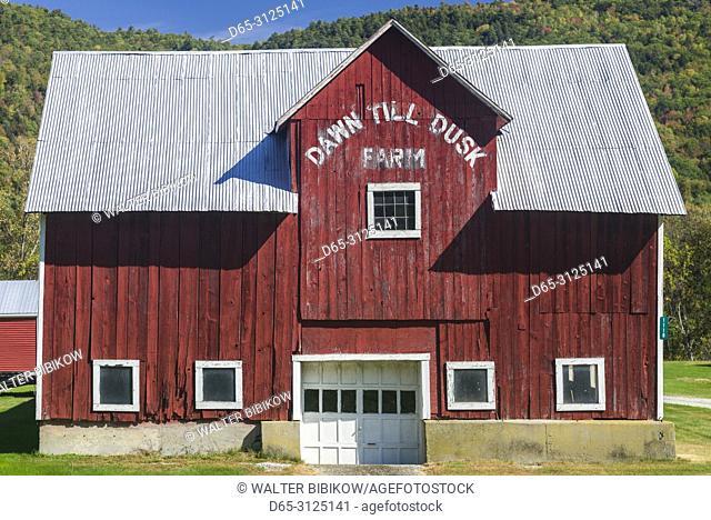 USA, New England, Vermont, Ryegate, Dawn Till Dusk Farm