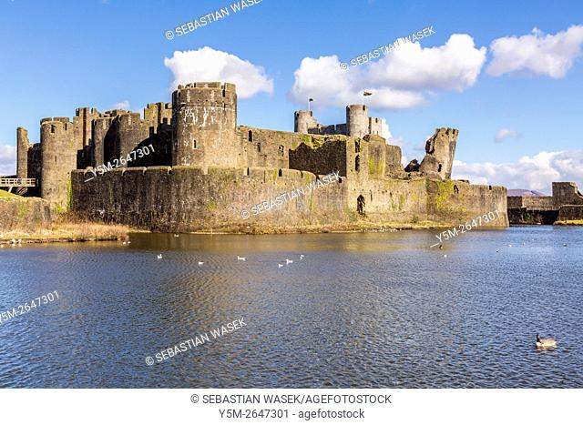 Caerphilly Castle (Castell Caerffili), a medieval castle that dominates the centre of the town of Caerphilly in south Wales It is the largest castle in Wales...