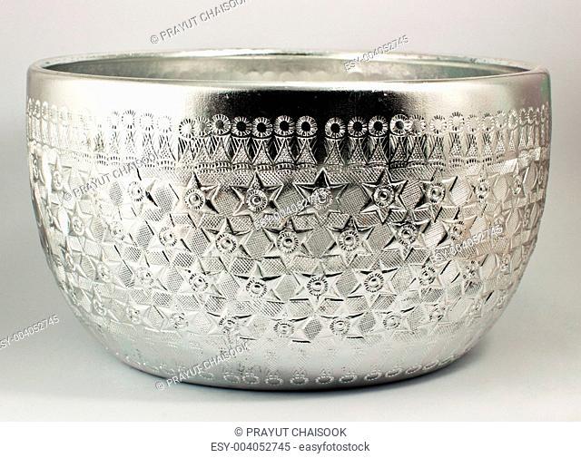 Thai silver water bowl