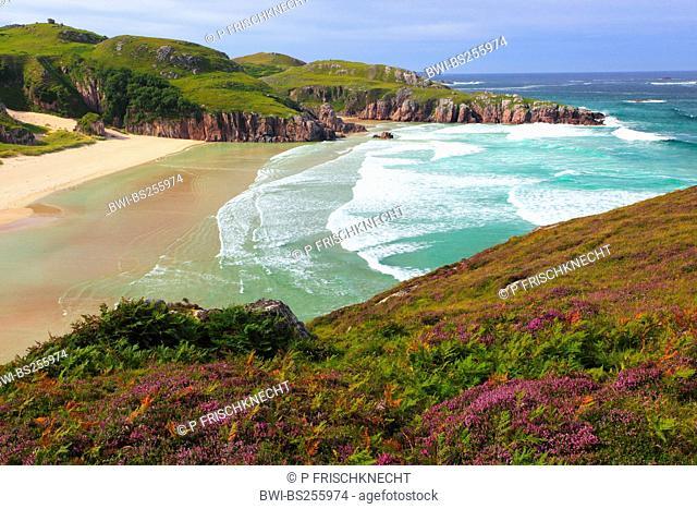 sandy beach in a bay near Durness, United Kingdom, Scotland, Sutherland