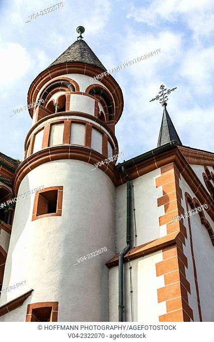 Close up of St. Peter Church in Bacharach, Rhineland-Palatinate, Germany, Europe