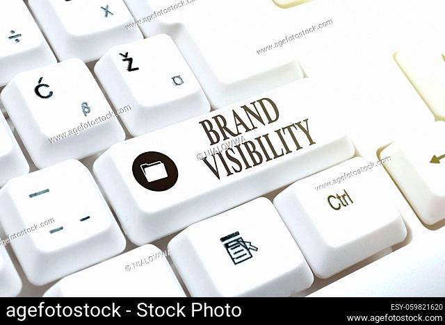Inspiration showing sign Brand Visibility, Business idea frequency at which showing see your brand in search results Internet Browsing And Online Research Study...
