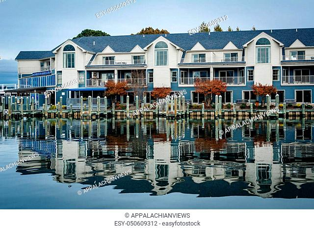 Hotel along the Miles River, in St. Michaels, Maryland