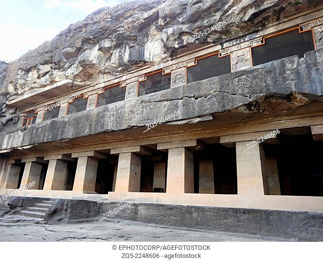 Cave 15 : Das Avatara : Nandi Mandapa. It begun excavation as Buddhist vihara and converted to a Hindu temple. It looks similar to Cave 11 and 12
