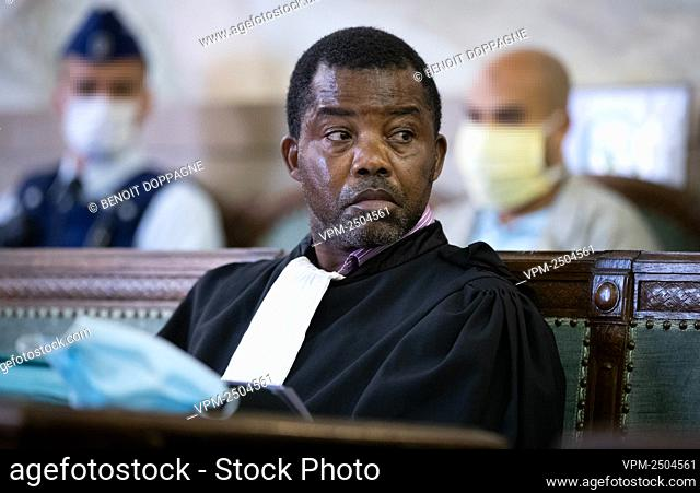 Lawyer Marc Makiadi Mapasi pictured during the jury constitution of the assizes trial of 28 years old Moroccan Chadi Nouach for the murder of a 46 years old...