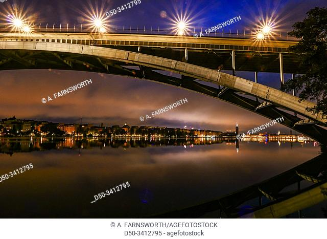Stockholm, Sweden The Western Bridge or Vasterbron linking Kungsholmen with Sodermalm and built in 1935