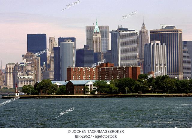 USA, United States of America, New York City: Skyline of Downtown Manhattan, Financial district
