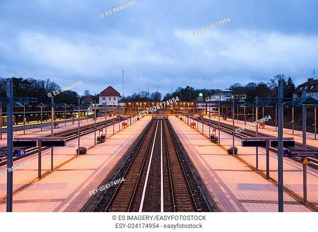 Railway platforms at the Berlin Olympiastadion (Olympic Stadium) Station