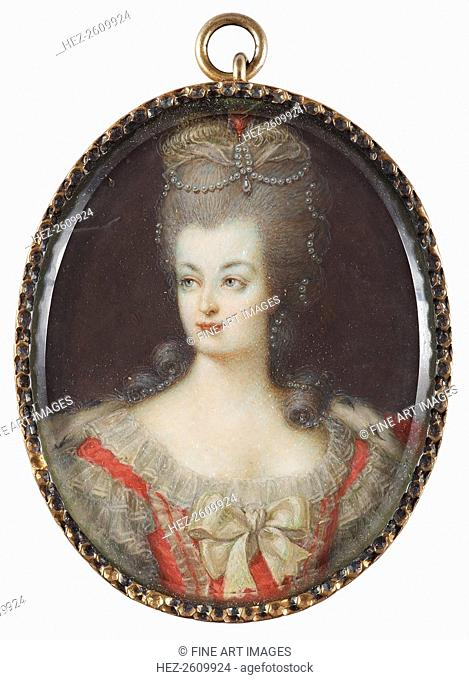 Portrait of Queen Marie Antoinette of France (1755-1793), Mid of the 18th cen. Artist: Anonymous