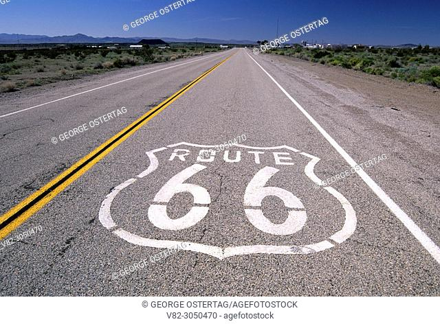 U. S. Route 66 sign, Amboy, California