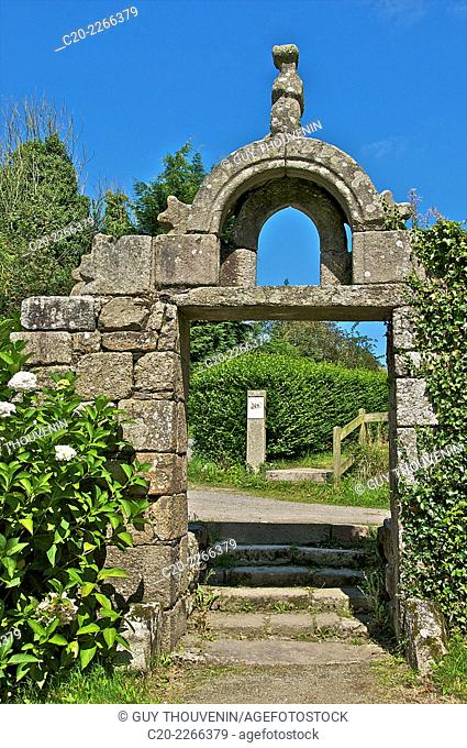 Triumphal Arc, 1738, Traon chapel, 16th c., Brittany, Finistere 29, France