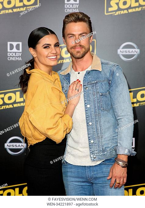 Premiere of Disney Pictures and Lucasfilm's 'Solo: A Star Wars Story' - Arrivals Featuring: Hayley Erbert, Derek Hough Where: Hollywood, California