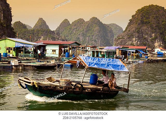 house boat.Cat Ba island.halong bay.vietnam