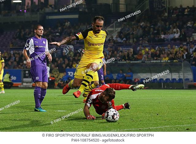 firo: 06.09.2018, Football, 1.Bundesliga, Season 2018/2019, Test match, VfL Osnabruck - BVB, Borussia Dortmund Paco ALCACER, BVB