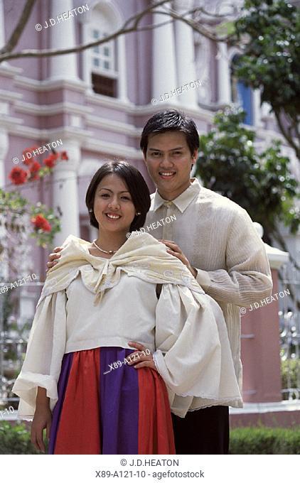 Villa Escudera, Couple in Traditional Costume, Philippines