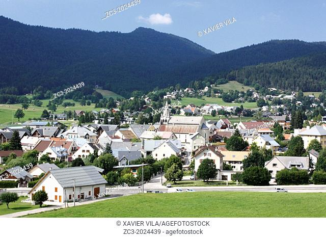 Resort village of Autrans in the Regional Natural Park of Vercors, Isere, Rhone-Alpes, France