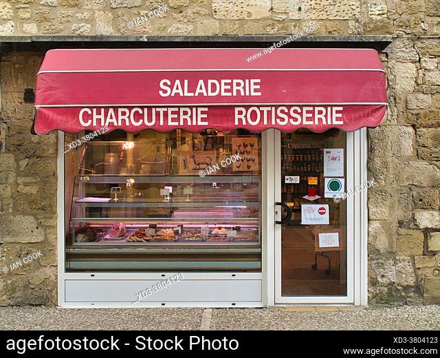 delicatessen at Castelnaud-la-Chapelle, Dordogne Department, Nouvelle-Aquitaine, France