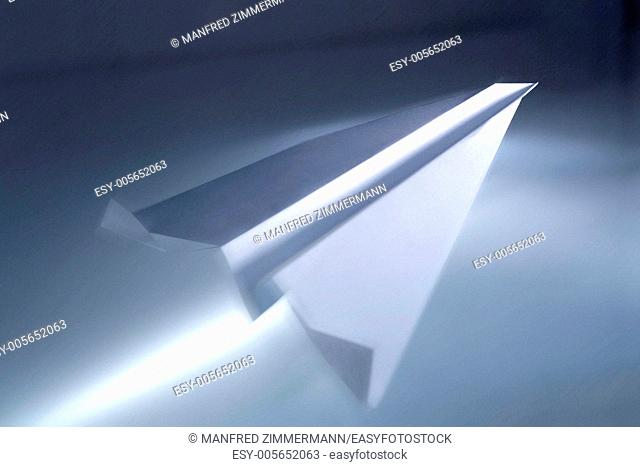 Paper airplane as a symbol of ascent