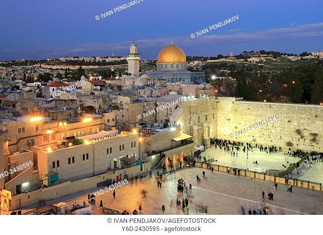 Dome of the Rock and the Wailing Wall, Jerusalem, Israel