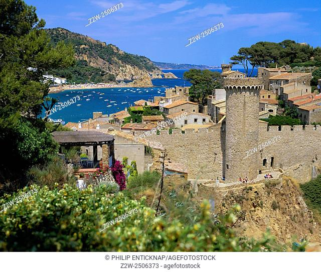 TOSSA DE MAR. Vila Vella Walls. The walled Vila Vella or Old Town of Tossa is the sole remaining fortified medieval town on the Catalan coast and was listed as...