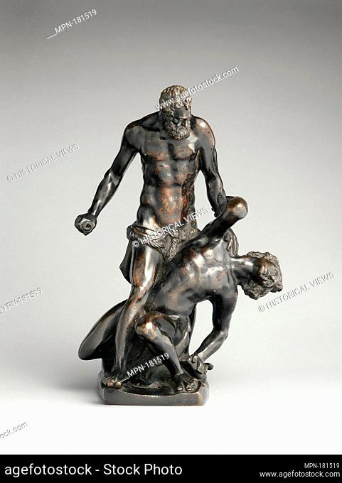 Hercules and Cacus. Date: early 17th century; Culture: Central Italian; Medium: Bronze, dark brown patina; Dimensions: confirmed: 14 1/8 x 10 x 8 in