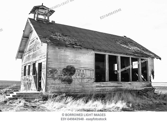 Weathered Schoolhouse in the Palouse region of Washngton
