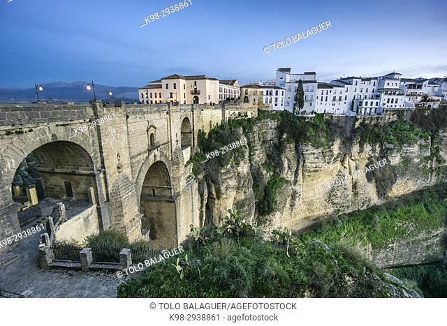 puente Nuevo construido entre 1759 y 1793, Ronda, Malaga Province, Andalusia, Spain