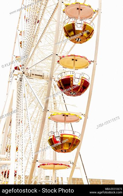 Ferris wheel, city festival, Leipzig, Saxony, Germany, Europe