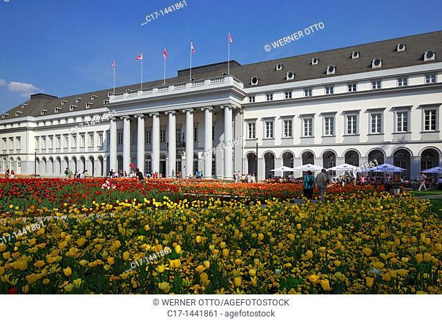 Germany. Koblenz, Rhine, Moselle, Maifeld, Eifel, Hunsrueck, Westerwald, Rhineland-Palatinate, electoral palace, residential castle, French Early classicism