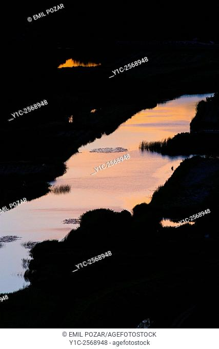 River Neretva in Croatia at dusk time