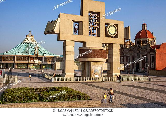Old and New Basilicas Our Lady of Guadalupe, Our Lady of Guadalupe complex, Mexico City, Mexico