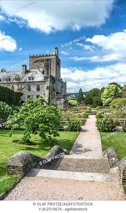 Buckland Abbey and Gardens, a 700-year-old house in Buckland Monachorum, near Yelverton, Devon, England