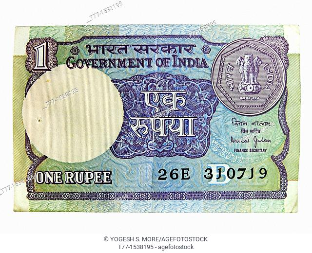 Indian currency, 1 One Rupee