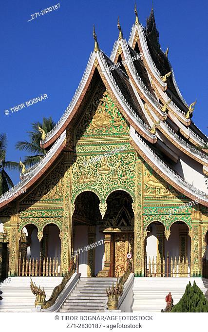 Laos; Luang Prabang; Haw Pha Bang, Royal Temple,