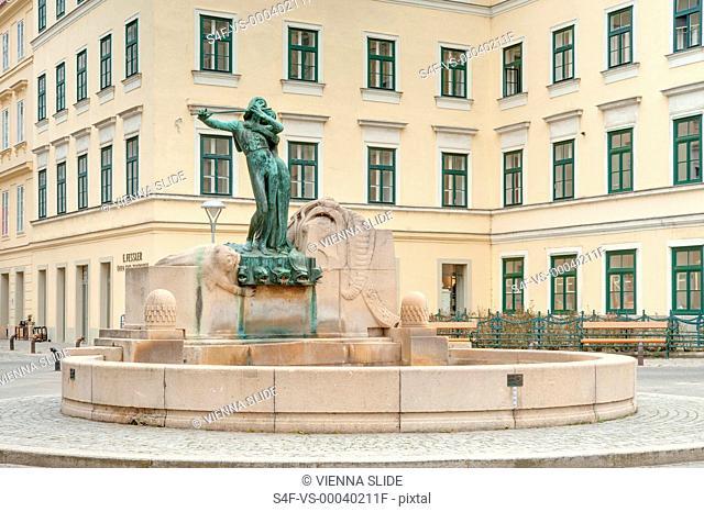 Österreich, Wien, Mozartbrunnen