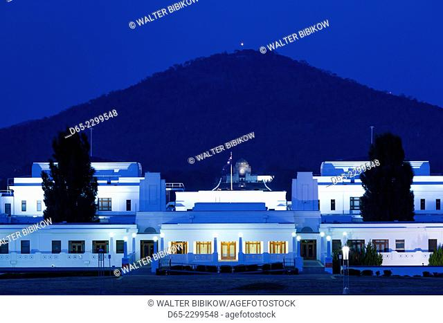 Australia, Australian Capital Territory, ACT, Canberra, Museum of Australian Democracy, Old Parliament House, dusk