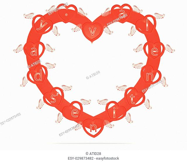 heart with wings, wonderful vector elements for design to Valentine's day