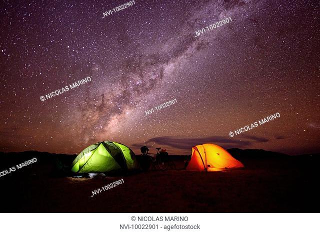 Camping in the Namib desert, Namibia