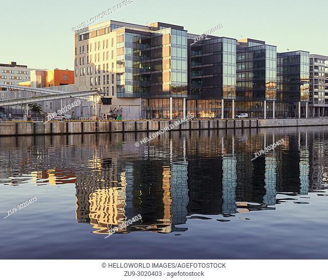 Hammarby Sjostad eco neighbourhood a pioneer in sustainable development, Hammarby Lake, Stockholm, Sweden, Scandinavia