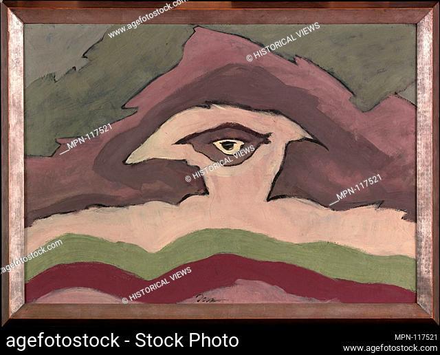 Storm Clouds. Artist: Arthur Dove (American, Canandaigua, New York 1880-1946 Huntington, New York); Date: 1935; Medium: Wax emulsion on canvas in artist-made...