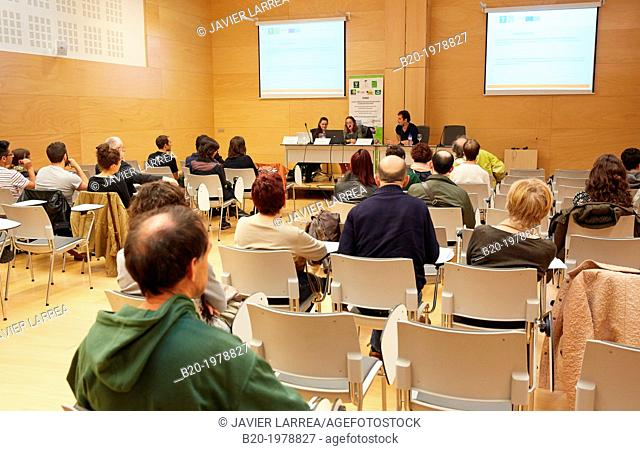 Conference Hall, Bioterra, fair of organic products, green building, renewable energy and responsible consumption, Ficoba, Irun, Gipuzkoa, Basque Country, Spain