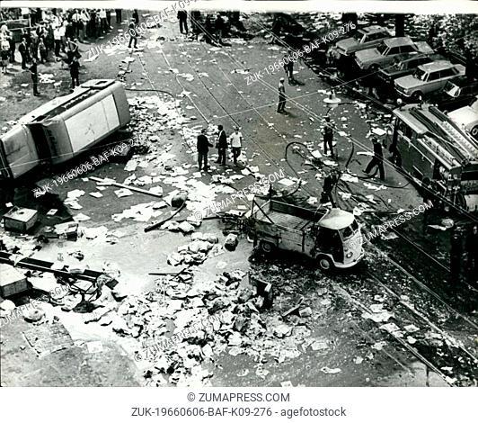 Jun. 06, 1966 - Police fire on demonstration building workers in Amsterdam.: Police fired an building workers demonstrating near the Royal Palace in Amsterdam...