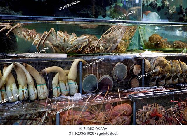 Shop of seafood at Sai Kung, Hong Kong