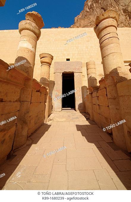 Colonnade. Hatshepsut Temple. West Bank. Luxor old Thebas. Upper Egypt