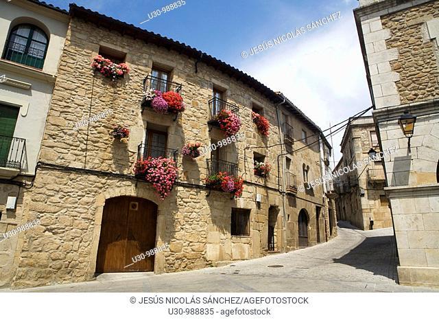 Hoyos street  Town declarated Historical-Artistic Site, located in Sierra de Gata  Cáceres, Extremadura, Spain