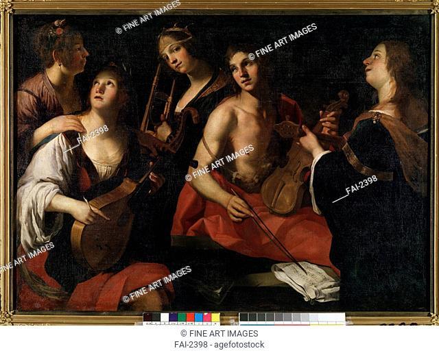 Concert. Rustici, Francesco (ca. 1575-1626). Oil on canvas. Baroque. State M. Ciurlionis Art Museum, Kaunas. 140x200. Painting