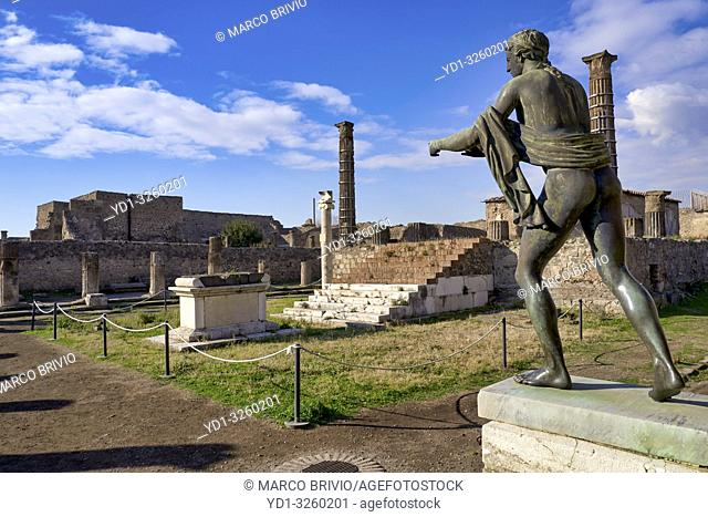 Naples Campania Italy. Pompeii was an ancient Roman city near modern Naples in the Campania region of Italy, in the territory of the comune of Pompei