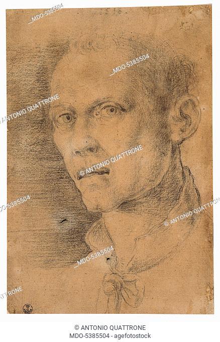 Male Portrait, by Albrecht Durer, 1518, 16th Century, black pencil on white paper